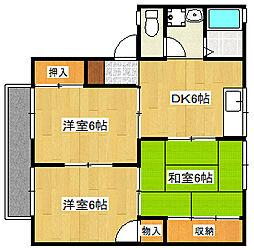 セジュールオサダ1号館[1階]の間取り