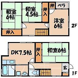 [一戸建] 広島県広島市安芸区矢野東4丁目 の賃貸【/】の間取り