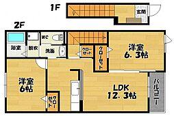 プリムローズA棟[2階]の間取り