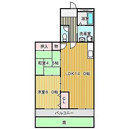 愛知県名古屋市中川区西伏屋2の賃貸アパートの間取り