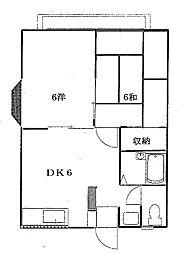 エステートピア翠光園II[2階]の間取り