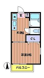 アカサンス高松[2階]の間取り