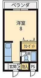 ビクトワール八木[108号室]の間取り