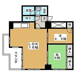 サンライフマンション泉[4階]の間取り