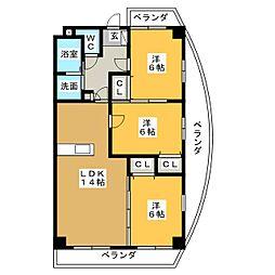 ラ・プリマカーサ[3階]の間取り