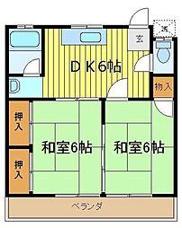 竹園荘[2階]の間取り