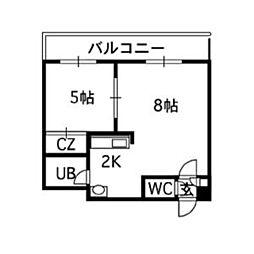 ルーブル8条館[7階]の間取り