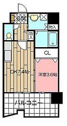 サンシャインプリンセス北九州[5階]の間取り