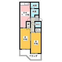 STマンション[2階]の間取り