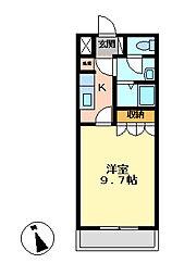 クローバー[205号室号室]の間取り