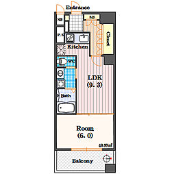リーガル四ツ橋立売堀II[2階]の間取り