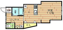 シャルマン西九条[2階]の間取り