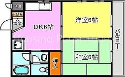 JR東海道・山陽本線 明石駅 バス20分 玉津インター前下車 徒歩10分の賃貸アパート 2階2DKの間取り