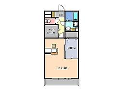 エルスリー緑[3階]の間取り