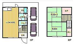 [一戸建] 大阪府箕面市坊島2丁目 の賃貸【/】の間取り