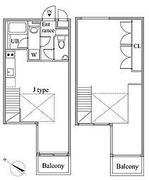 レジディア目黒II[4階]の間取り