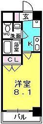 プレジール阪神西宮[9階]の間取り