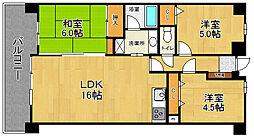 コアマンション和白東パセオ[4階]の間取り