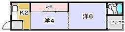 [テラスハウス] 大阪府枚方市田口2丁目 の賃貸【/】の間取り