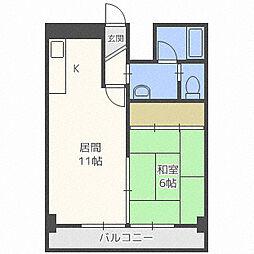 第8松井ビル[403号室]の間取り