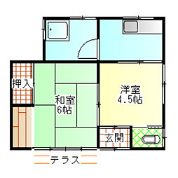 [一戸建] 神奈川県小田原市寿町5丁目 の賃貸【/】の間取り