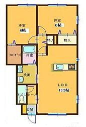 コンフォート大島IVA[A102号室]の間取り