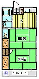 福田コーポ[2階]の間取り