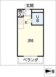 メゾンド・エム[2階]の間取り