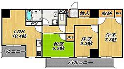 ポートサイド博多[9階]の間取り