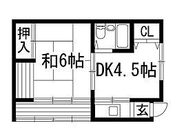 [一戸建] 大阪府箕面市瀬川2丁目 の賃貸【/】の間取り
