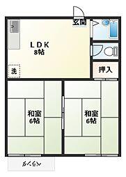 コーポ吉田[2階]の間取り