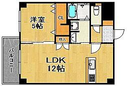 GLC平尾[4階]の間取り
