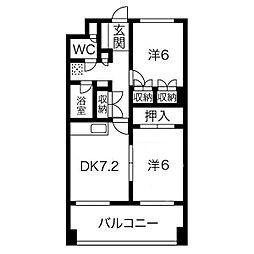 J1すすきのビル[6階]の間取り