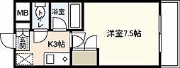 LUSSO祇園[3階]の間取り