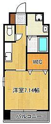 (仮称)折尾4丁目賃貸マンション 8階1Kの間取り