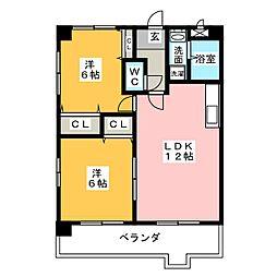 DWELL梅森坂II[3階]の間取り