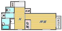 東京都北区岩淵町の賃貸アパートの間取り