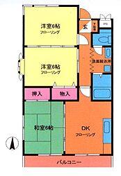 戸田ローランドハイツ[2階]の間取り