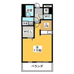 プリステージュ[4階]の間取り