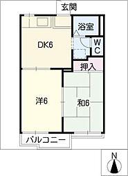 タウニー武内 A棟[2階]の間取り
