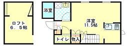 ラコルテジャパン[1階]の間取り