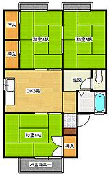 セジュール・ユアサ[2階]の間取り