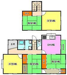 [一戸建] 兵庫県神戸市西区桜が丘西町4丁目 の賃貸【/】の間取り