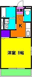 静岡県磐田市富士見町2丁目の賃貸アパートの間取り