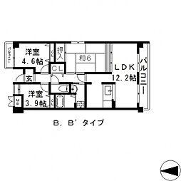ソレアード三貴[301号室号室]の間取り