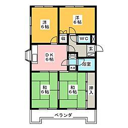 ロイヤルSAKURAI I[3階]の間取り