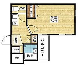 M'PLAZA新大阪駅前[8階]の間取り