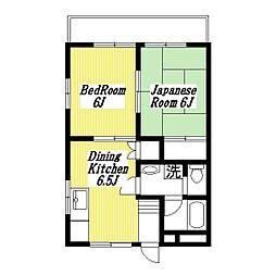 グレイス東百合ヶ丘2番館[2階]の間取り