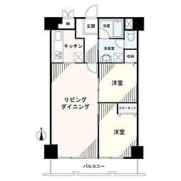 板橋シティハイツ[5階]の間取り