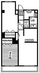 アンフルール[105号室]の間取り